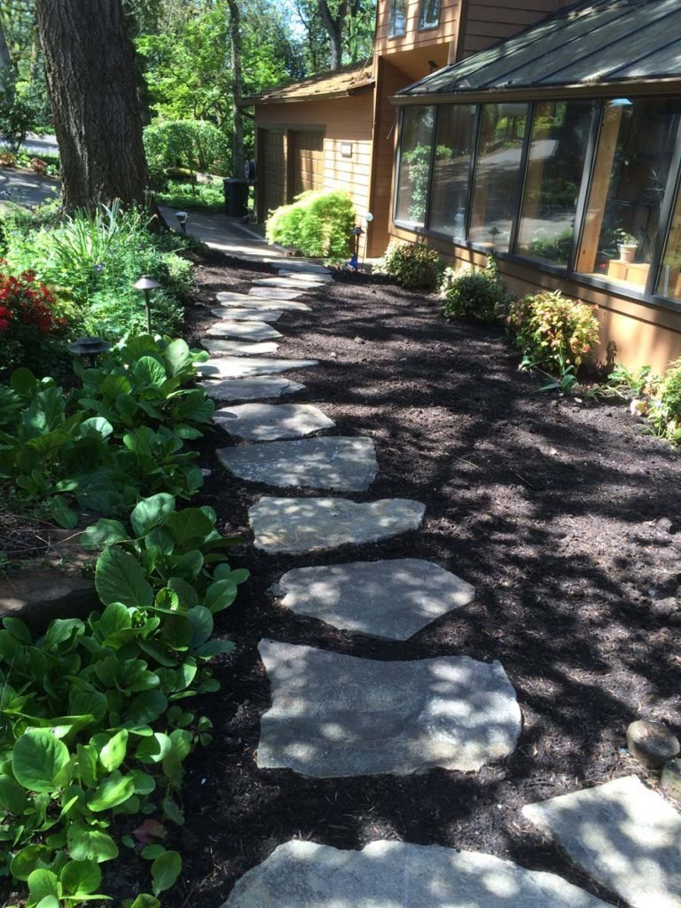 split stone slab pathway in salem oregon