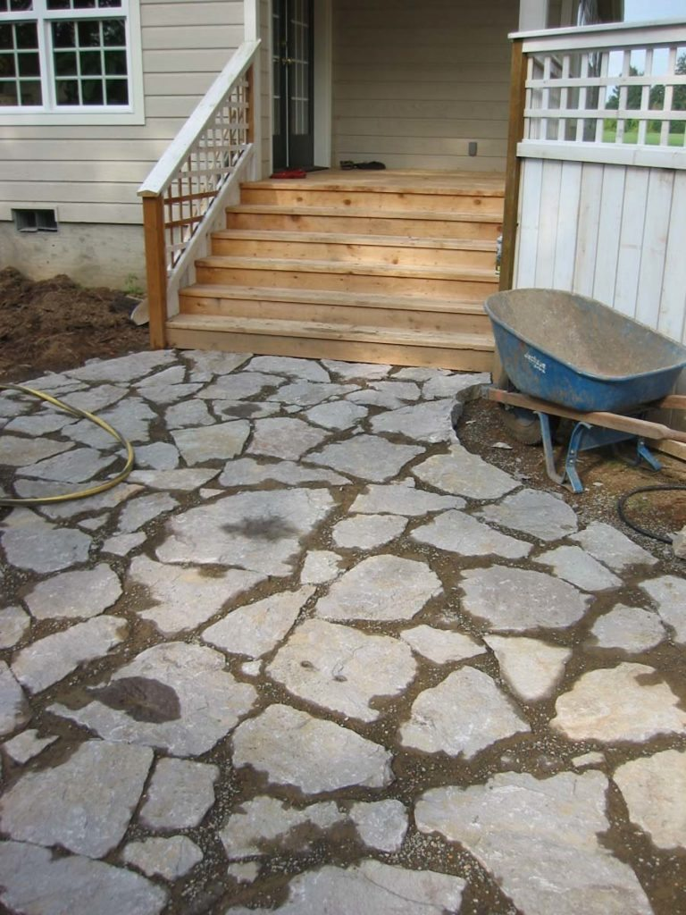 split stone tight set patio in salem oregon