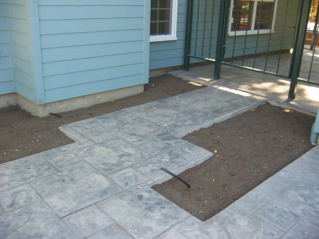 stamped concrete breezeway in salem oregon