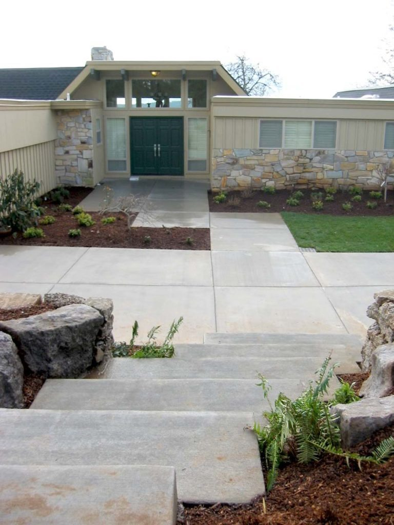 entry landscape design salem