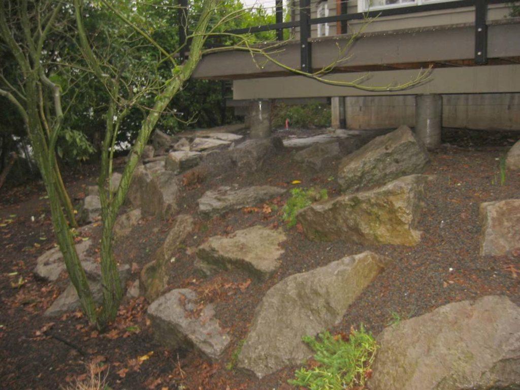 boulder seeding landscape design