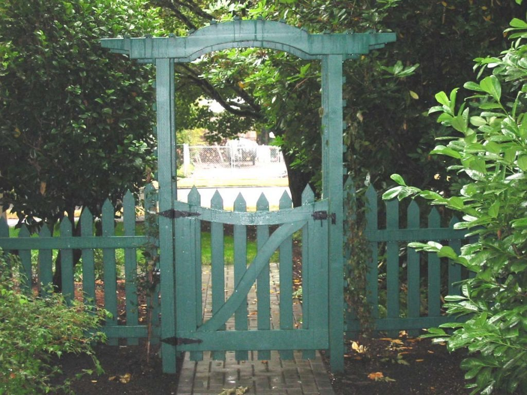 arbor and gate landscape design