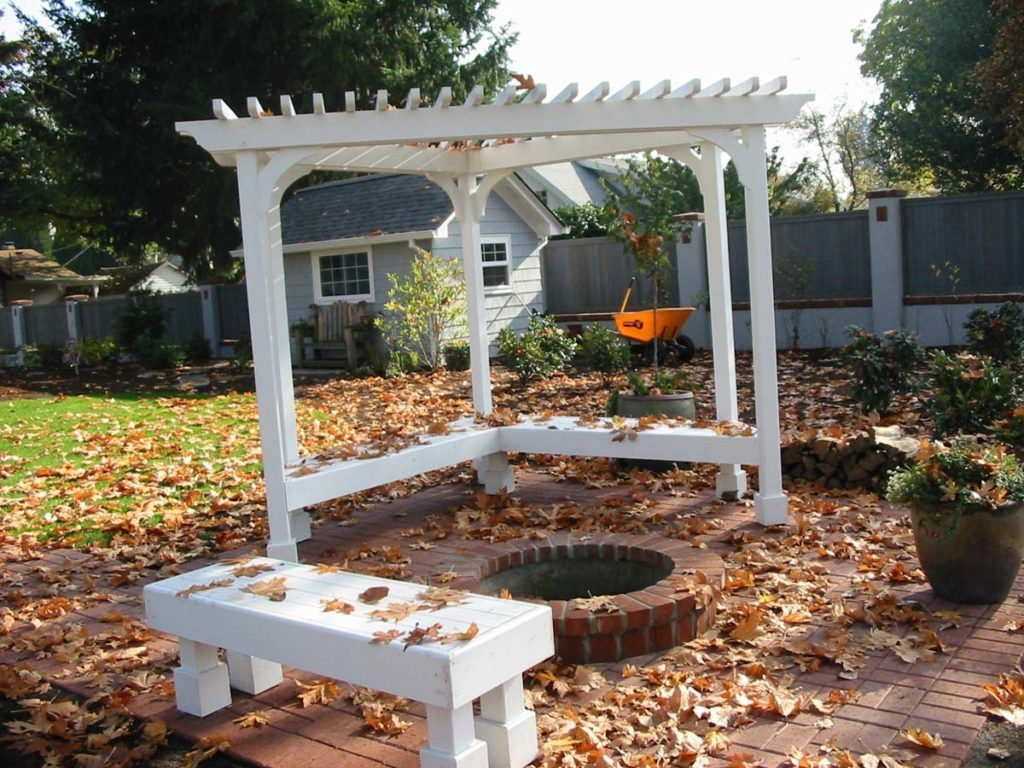 fire pit area and pergola in landscape design 6