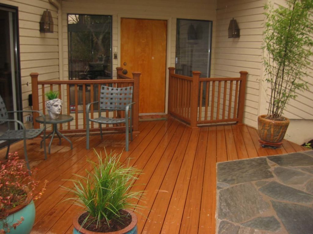 trex rails and deck landscape design salem