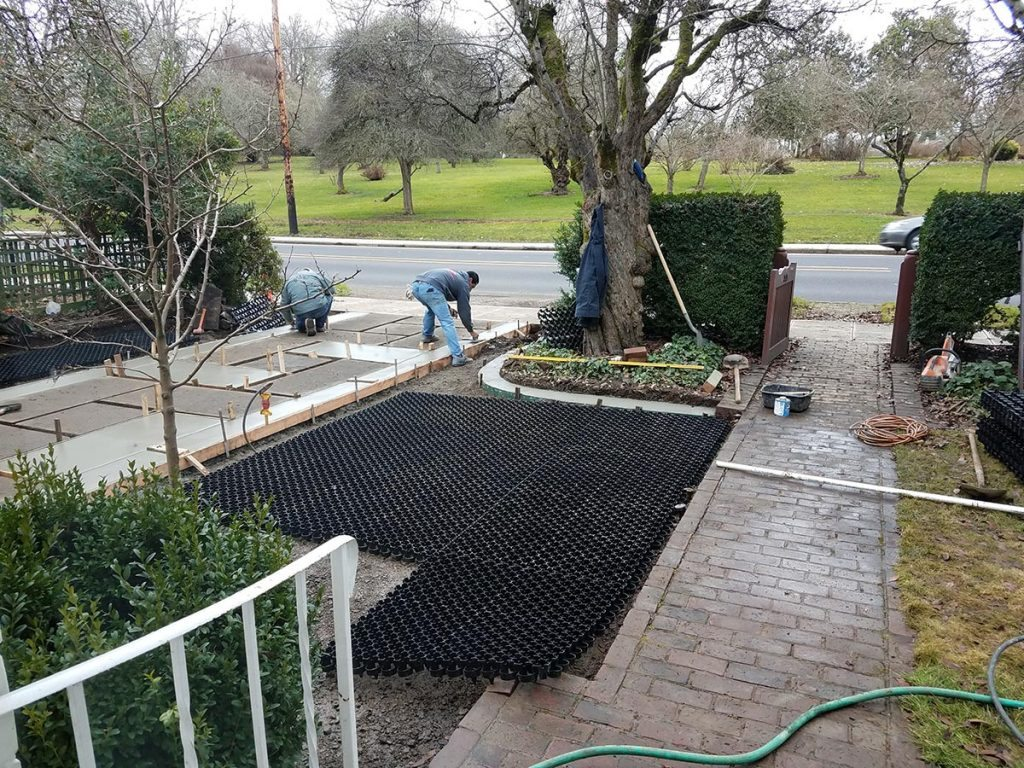 driveway restoration civic involvement before landscape design 2
