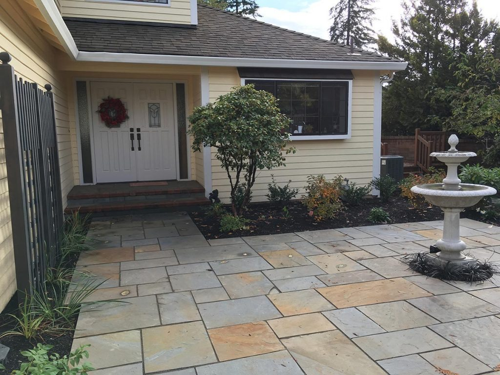 courtyard patio landscape design salem