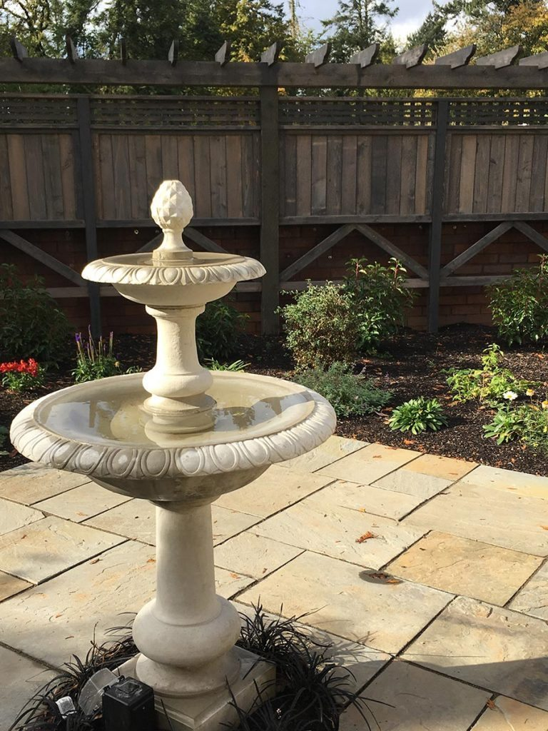 fountain patio landscape design salem