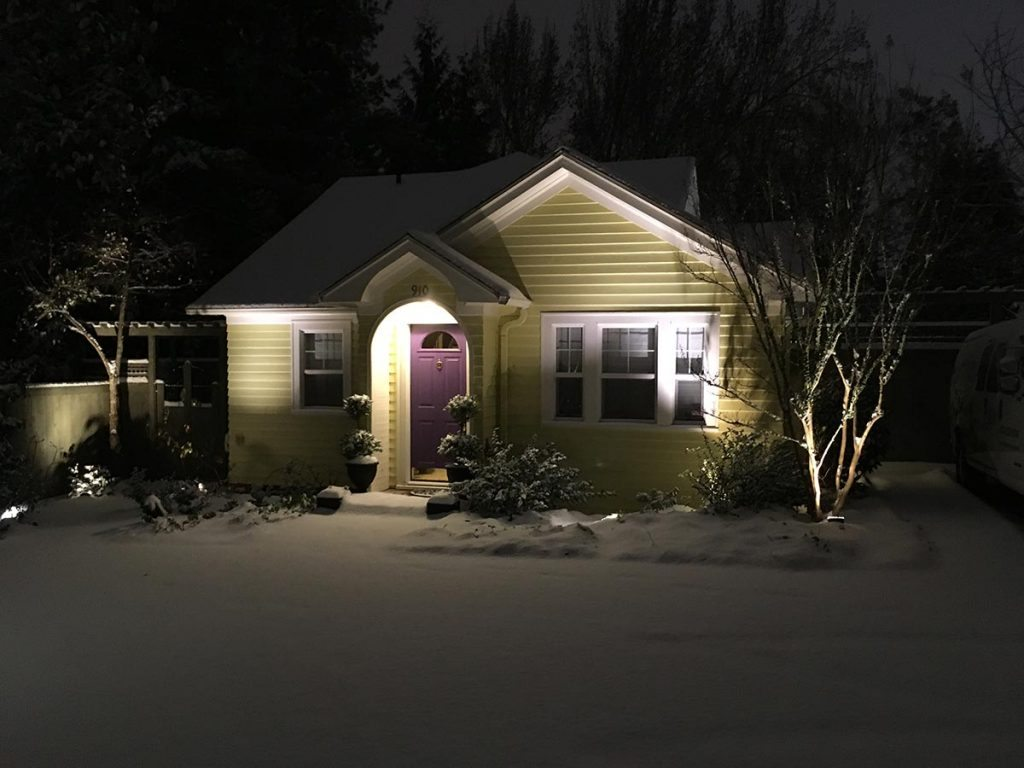landscape lighting design salem oregon snow 2