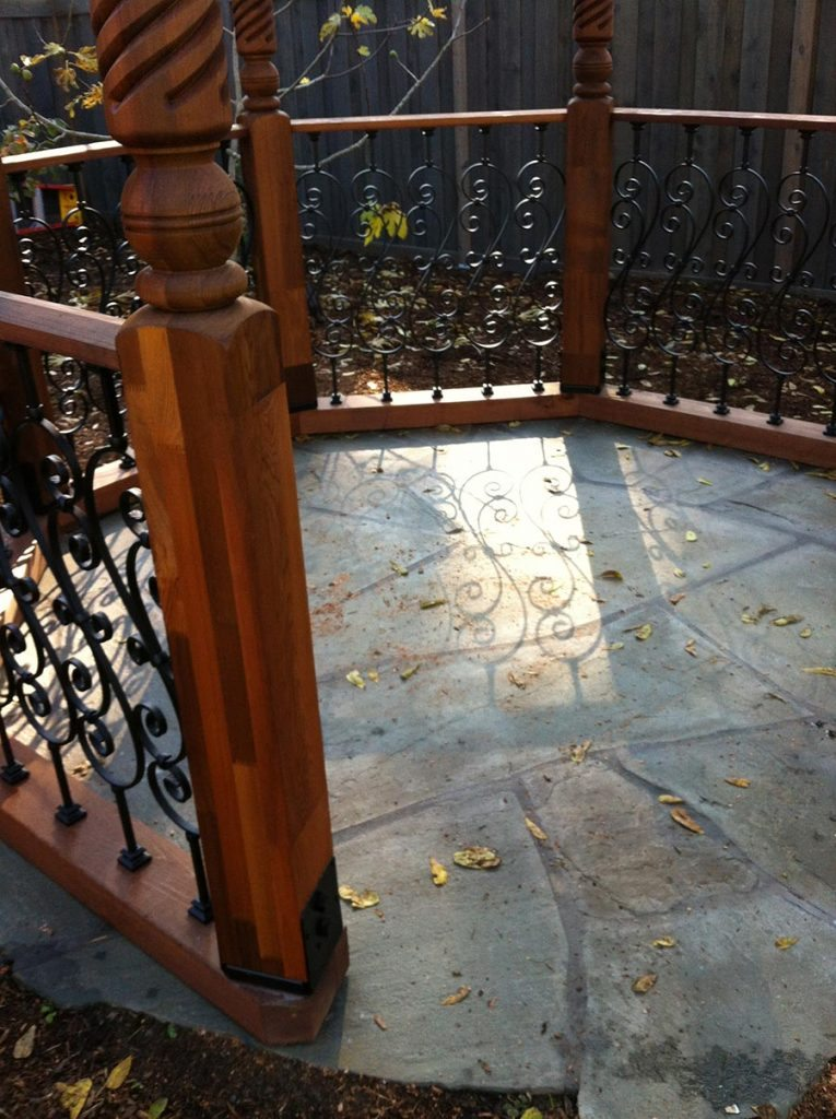 gazebo detail railing and floor in salem oregon 2