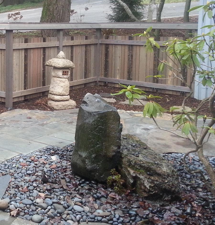 waterfall rock design landscape salem