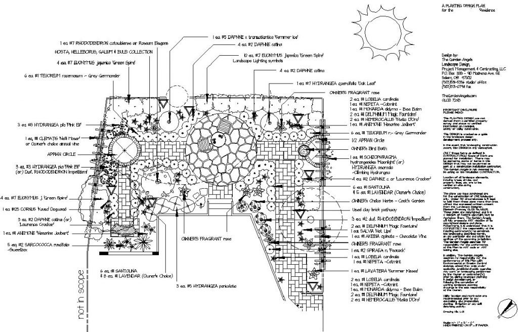 landscape plan sample design
