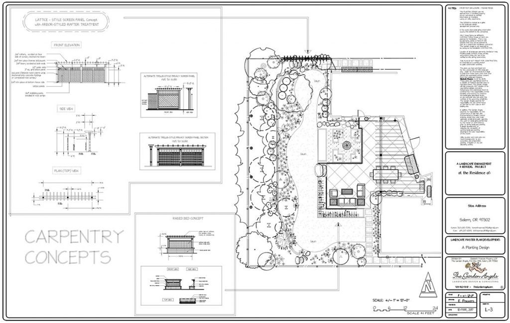 landscape plan sample design 8