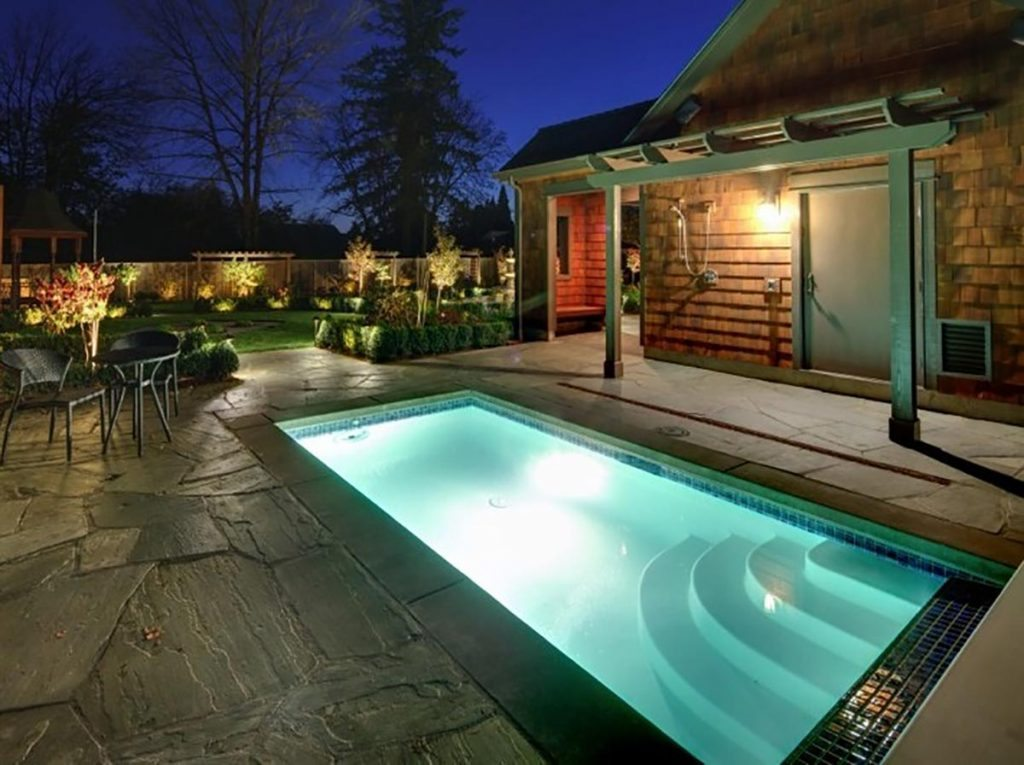 swim spa & screen landscape design 4