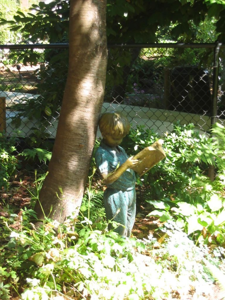 little boy statuary landscape salem oregon