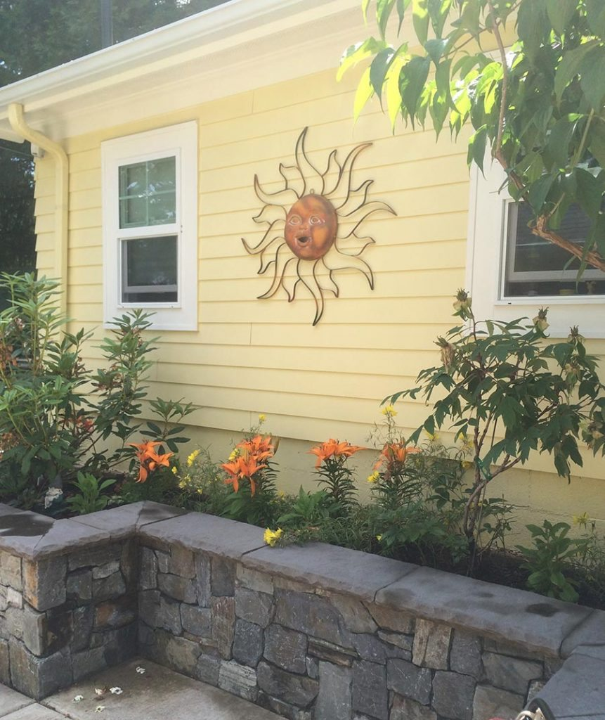 retaining wall with art in salem oregon