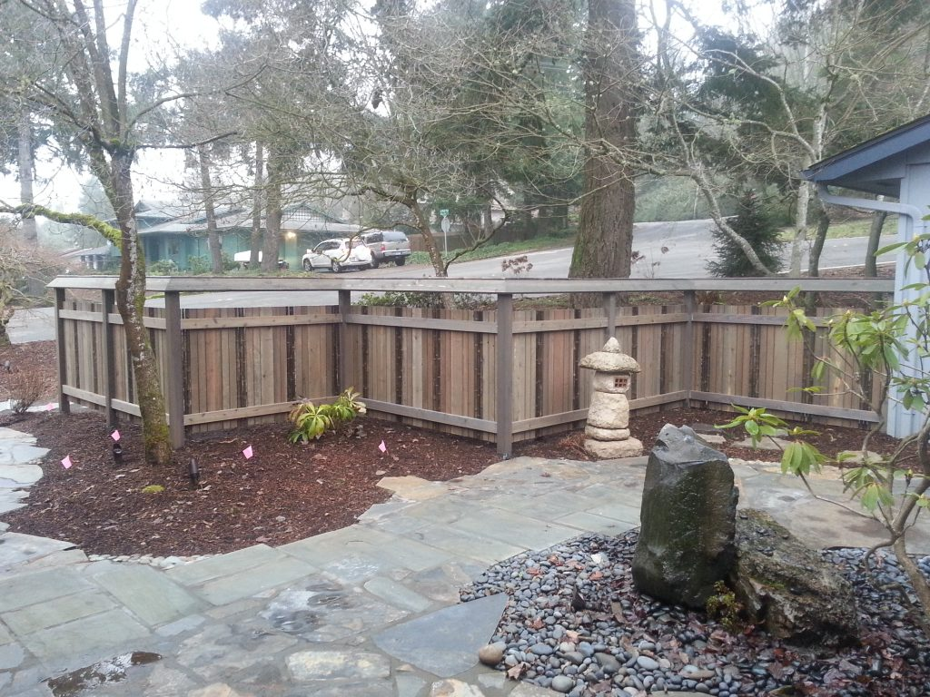 decorative fence design salem landscape privacy courtyard